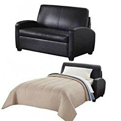 Alex\'s New Sofa Sleeper Black convertible couch loveseat ...