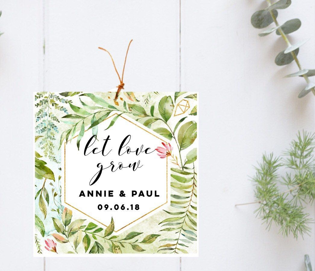 Let Love Grow-Seed Packets-Custom seed packet-Wedding seed packet ...