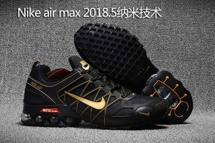uk availability f3c40 5309c Nike Air Max Shoes - 2018.5 Nike Air Max Hot Run Shoes Black Gold For Men
