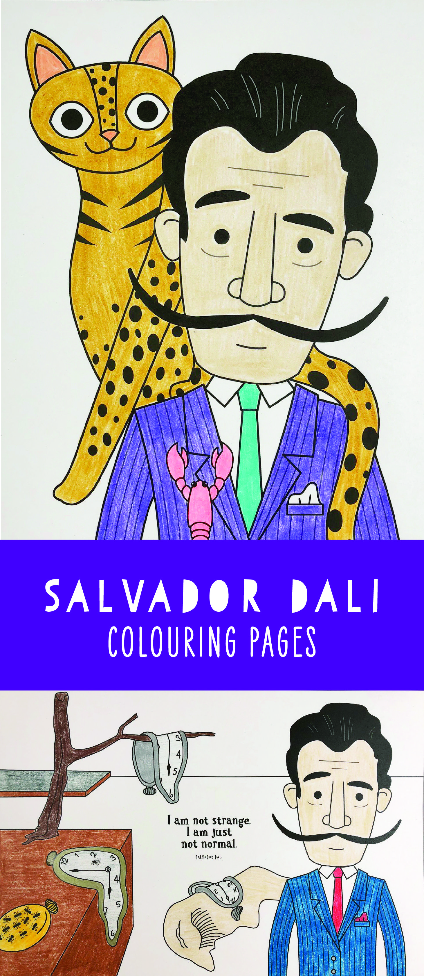 Salvador Dali Coloring Pages Colouring Pages For Kids Art