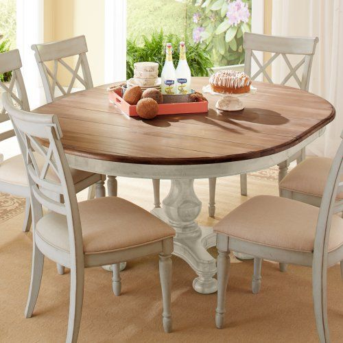 Cresent Fine Furniture Cottage Round Dining Table 54 And Extends Round Dining Table Decor Dining Room Table Decor Small Dining Table
