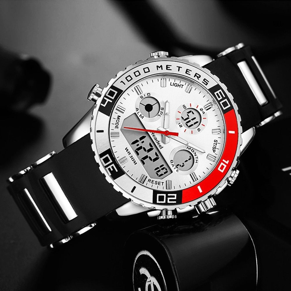 Luxury Men Rubber LED Digital Army Military Sports Watches