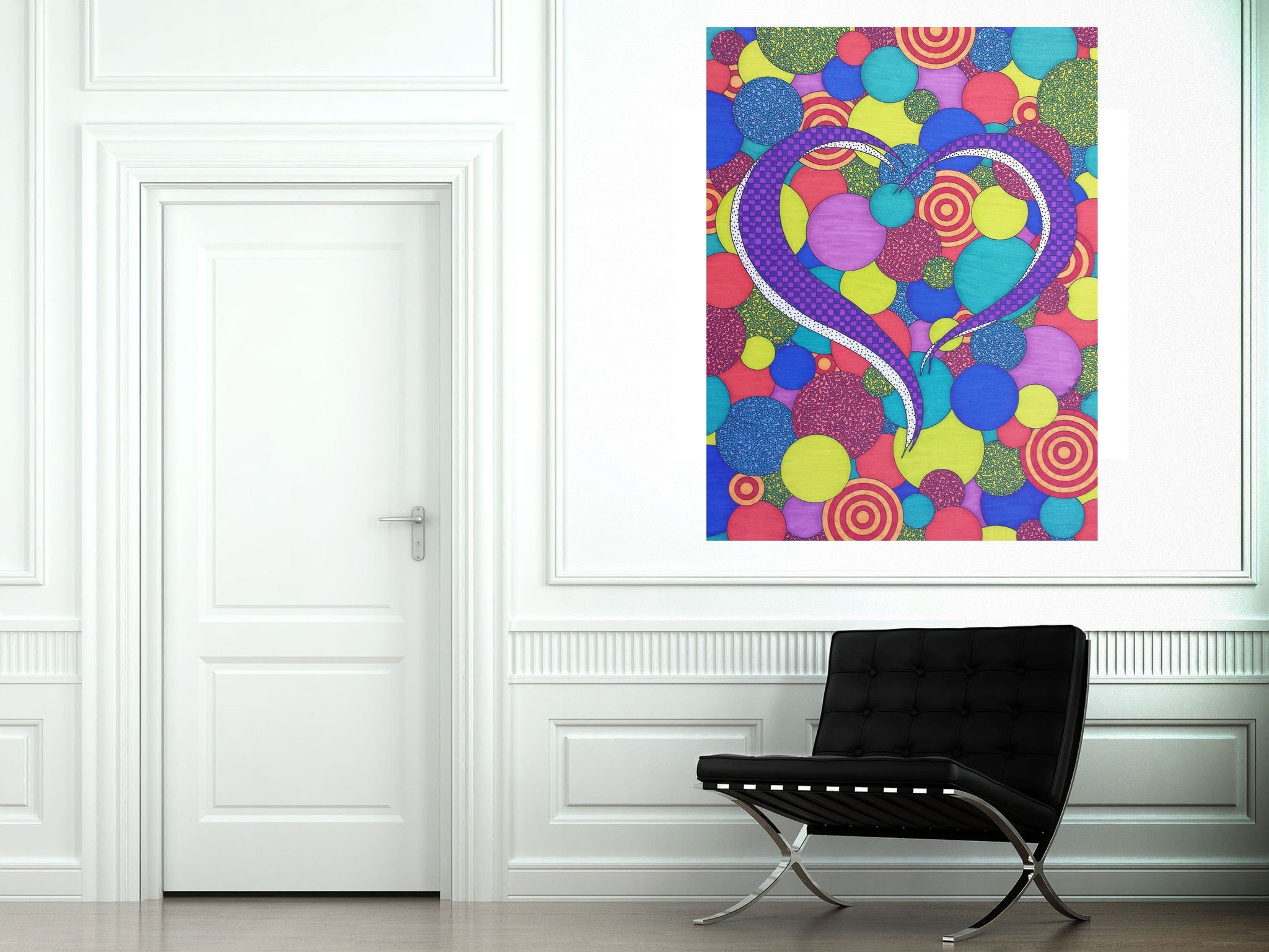 Patchwork Heart Canvas Reproduction
