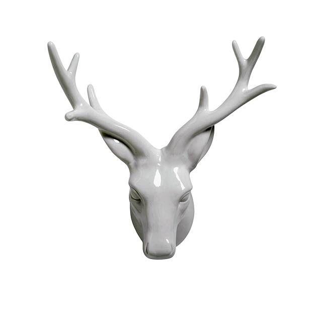 Porcelain Deer Head Wall Mount Matalan Christmas