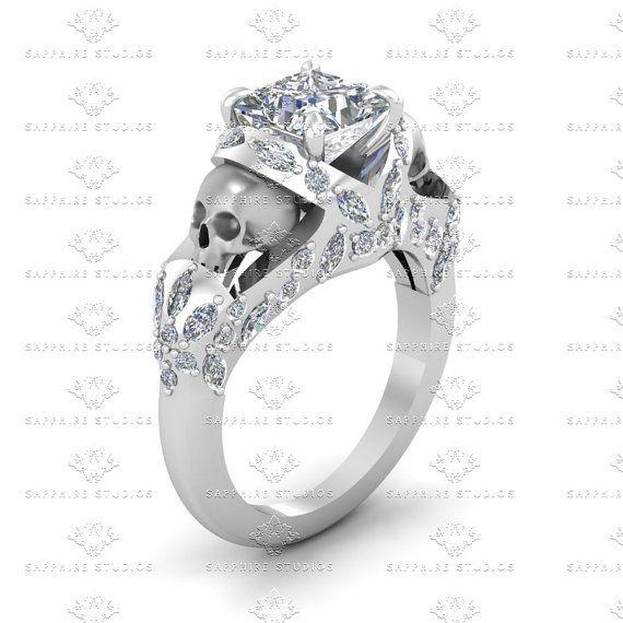 Le Reve princesa corte blanco diamante por SapphireDesignStudio