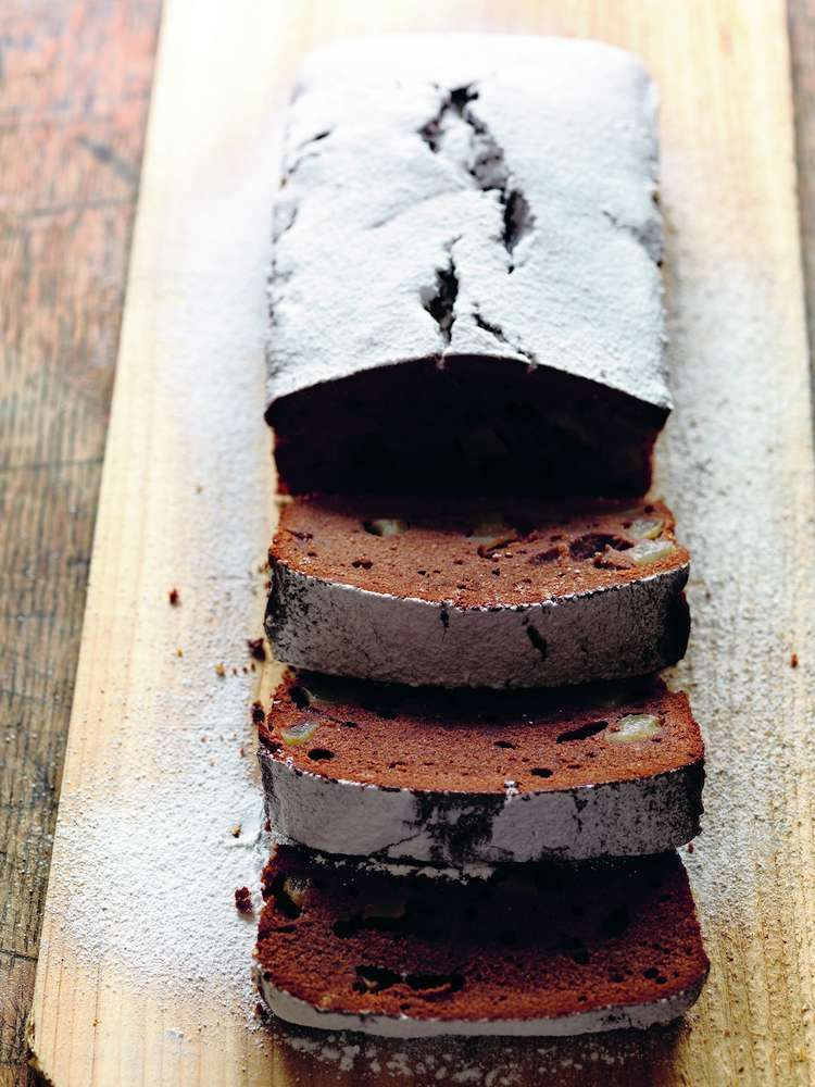 Chocolate and Pear Cake by Anna Del Conte. A great accompaniment to an afternoon cup of tea.