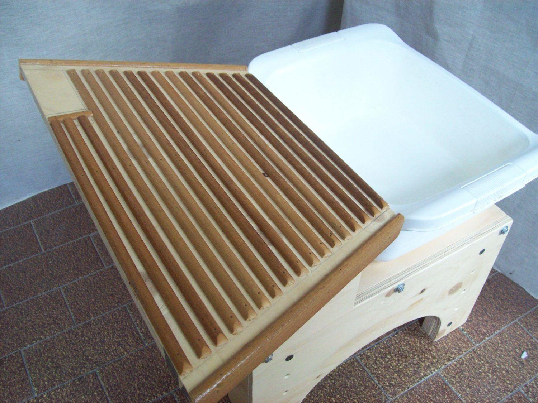 Gioco montessori lavatoio realizzato in legno e for Case e giardini