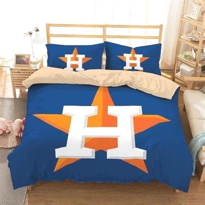 3D Customize Houston Astros Bedding Set Duvet Cover Set Bedroom Set
