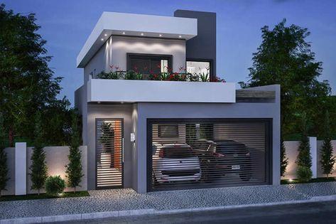 Plano de casa para terreno de 7x20 casa en 2019 for Casa moderna 7x20