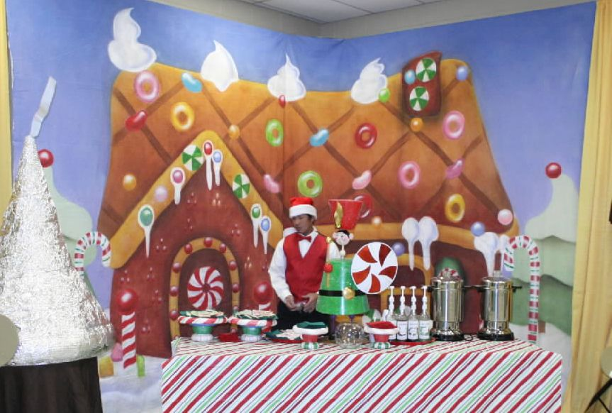 Candyland Gingerbread House Backdrop 12 T X 24 W Gingerbread House Party Event Candyland