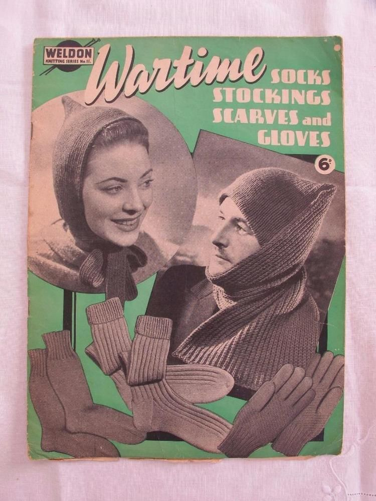 VINTAGE 1940 s WW2 ERA WARTIME KNITTING PATTERN MAGAZINE - SOCKS ...