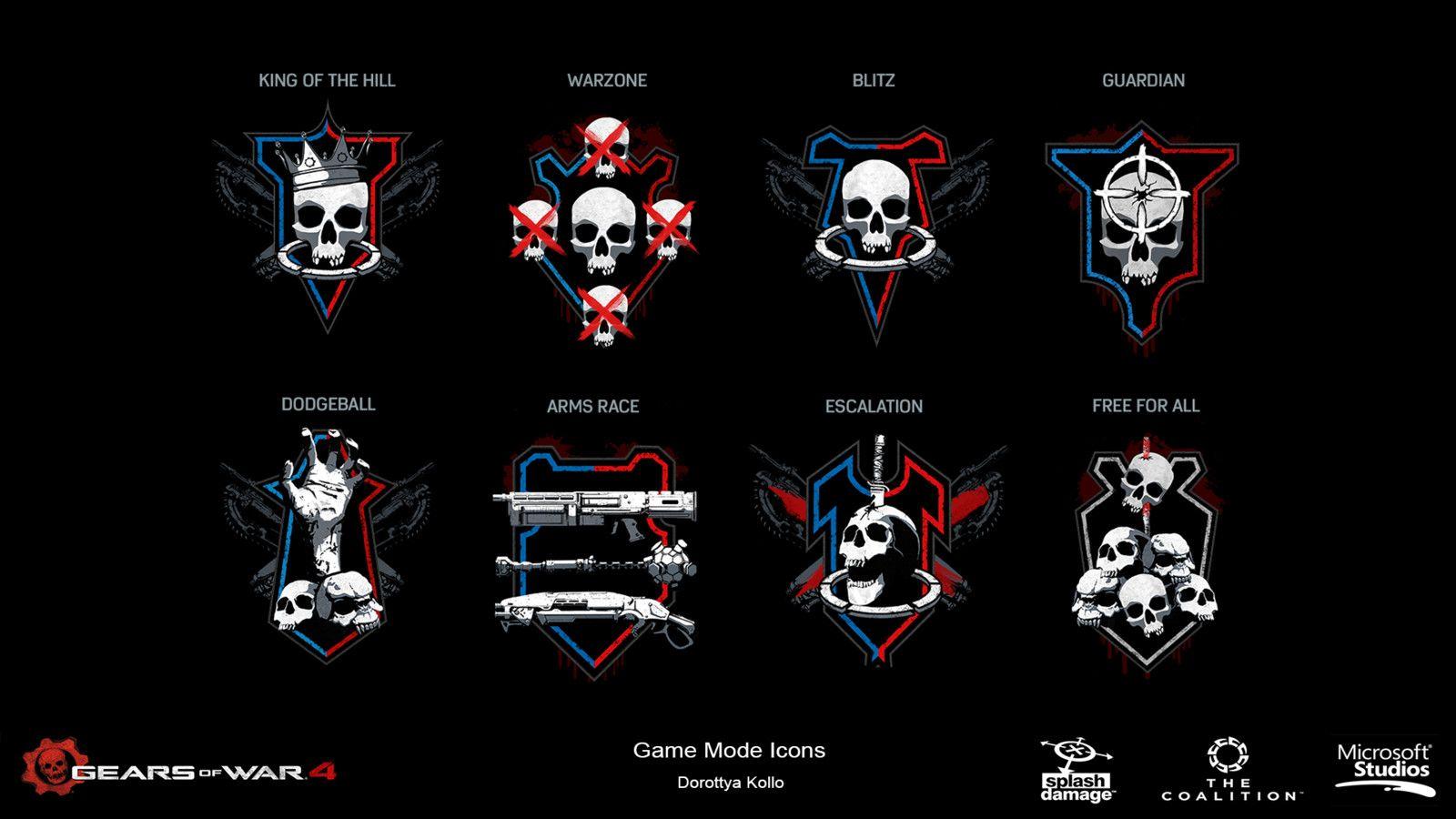 Gears Of War 4 Game Mode Icons Dorottya Kollo On Artstation At