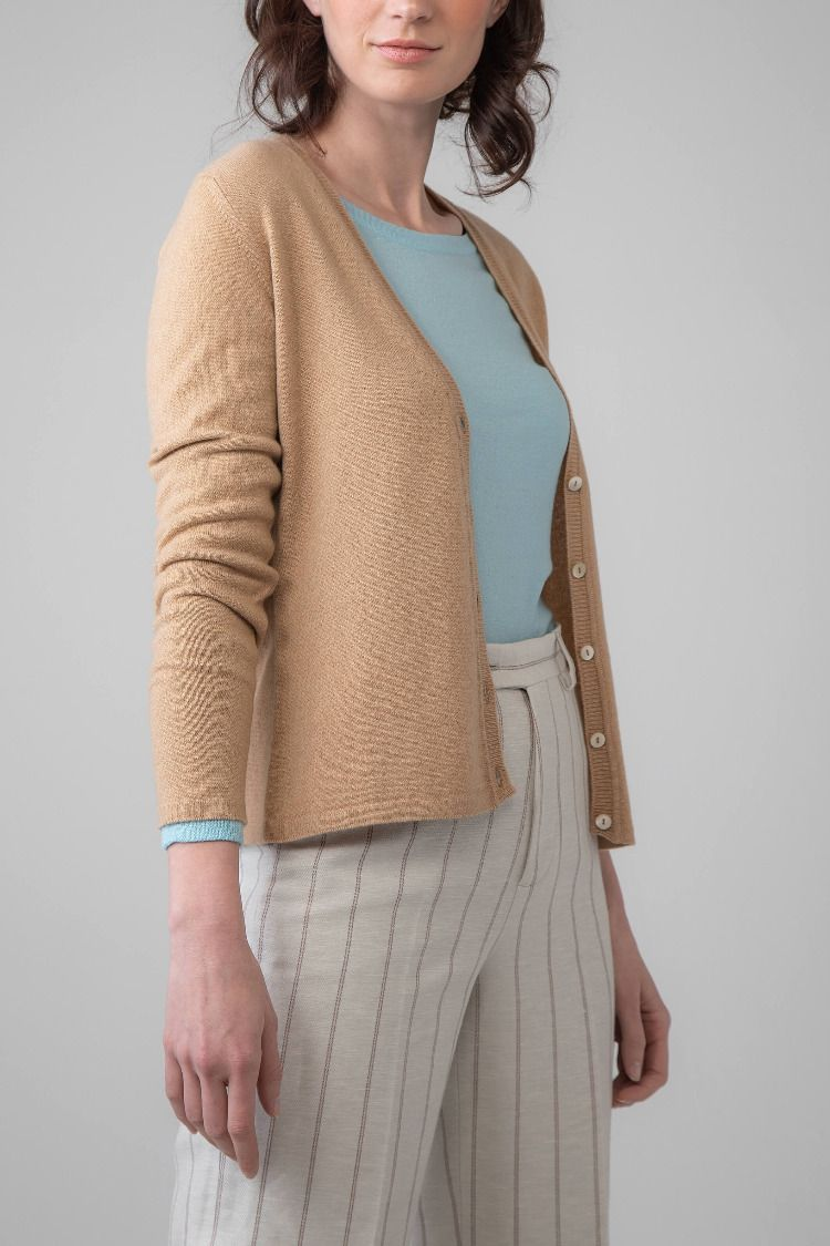 22dc5d171d8f5b Our Classic V Neck Baby Camel Women's Cashmere Cardigan keeps it simple and  effortless - our Classic Knitwear Collection is a selection of pieces which  are ...
