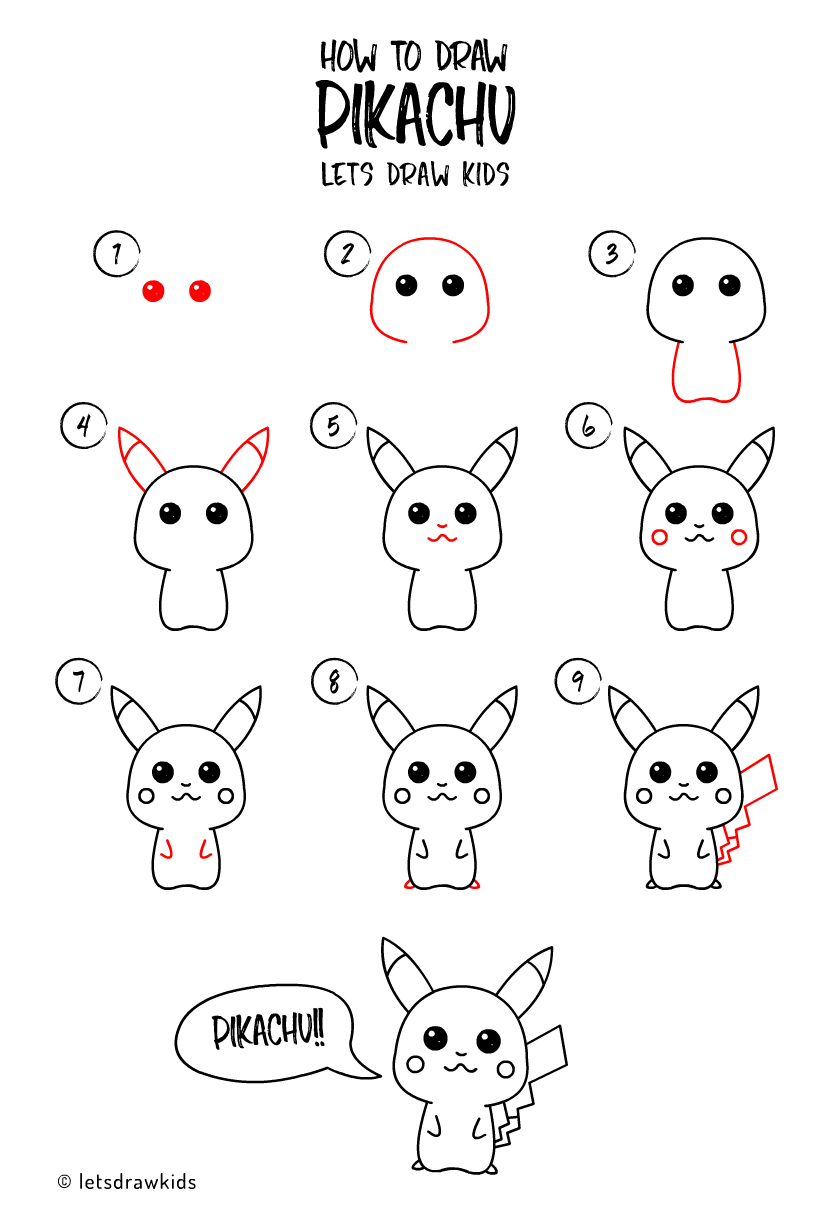 How To Draw Pikachu Easy Drawing Step By Step Perfect For Kids Let S Draw Kids Pikachu Drawing Easy Drawings Step By Step Drawing