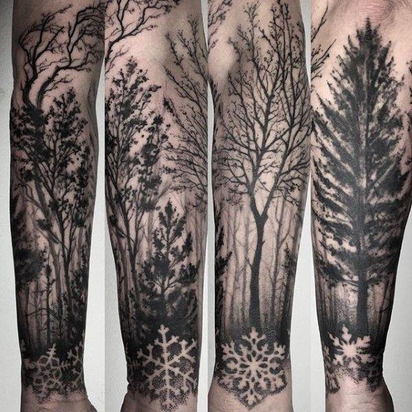 75 Tree Sleeve Tattoo Designs For Men Ink Ideas With Branches Tree Sleeve Tattoo Tree Sleeve Nature Tattoo Sleeve
