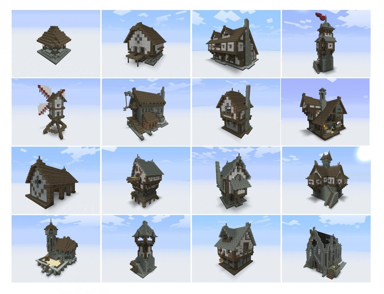 A full downloadable set of medieval structures from - Planetminecraft com ...
