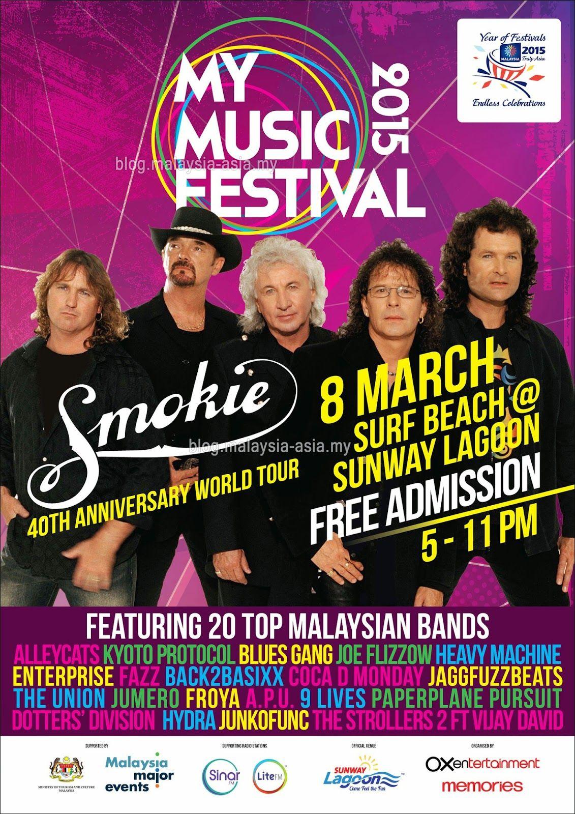 Smokie Live In Malaysia Music Festival Celebrity Music Festival