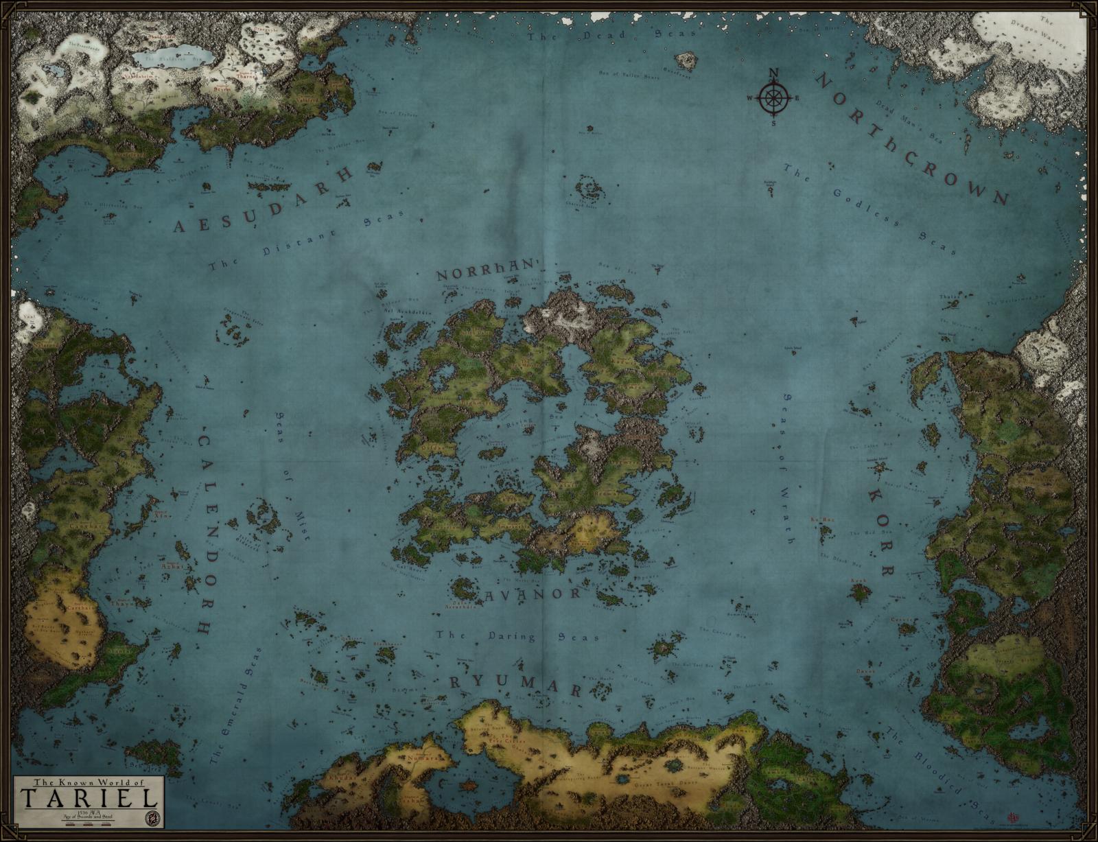 Tariel World Map by on DeviantArt world map Pi
