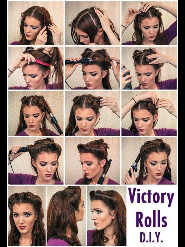 pin on pin-up hair tutorials