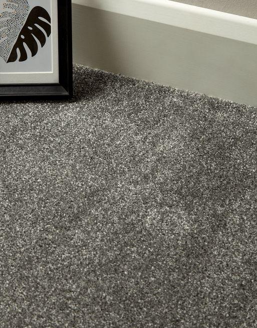Atlanta Gunmetal Grey Durable Carpet Synthetic Carpet Gunmetal Grey