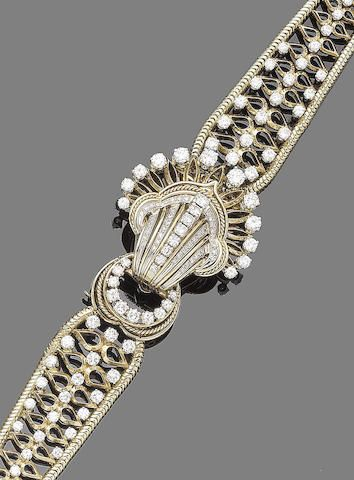 eca0485665b2 A diamond-set wristwatch