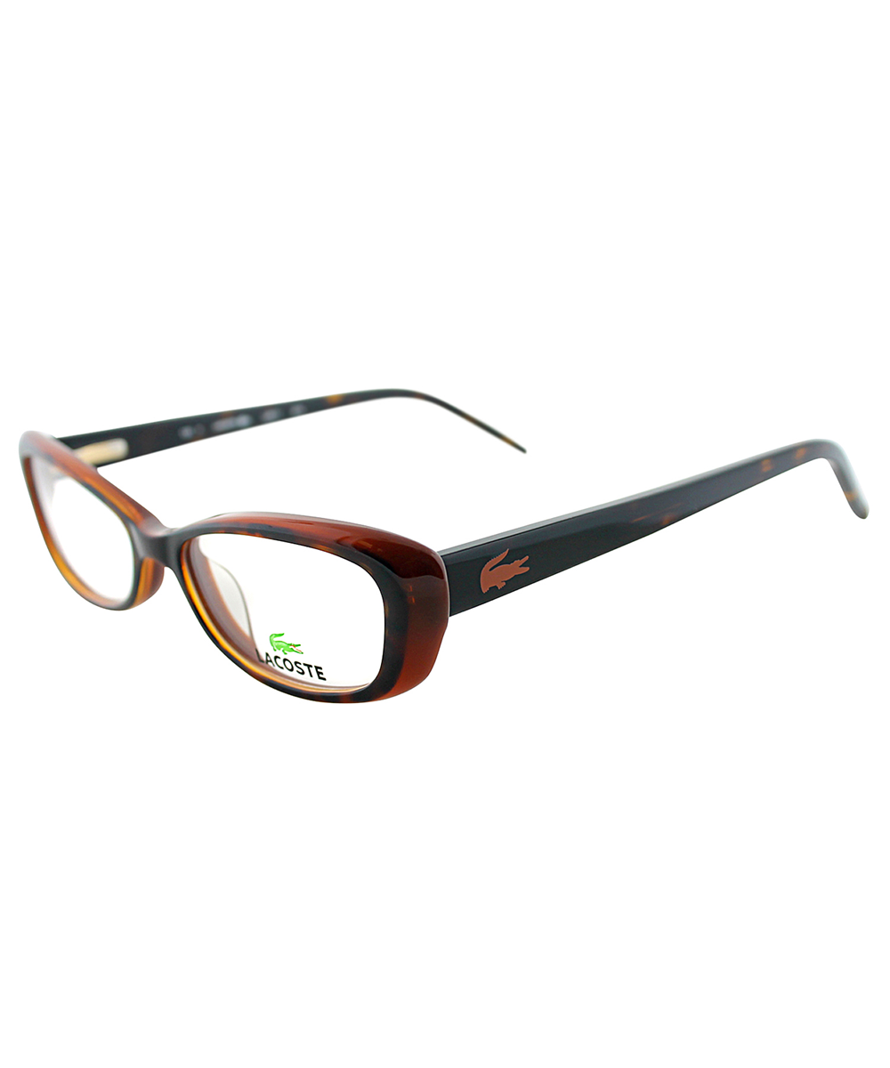 Cat-Eye Plastic Eyeglasses, Tortoise Brown