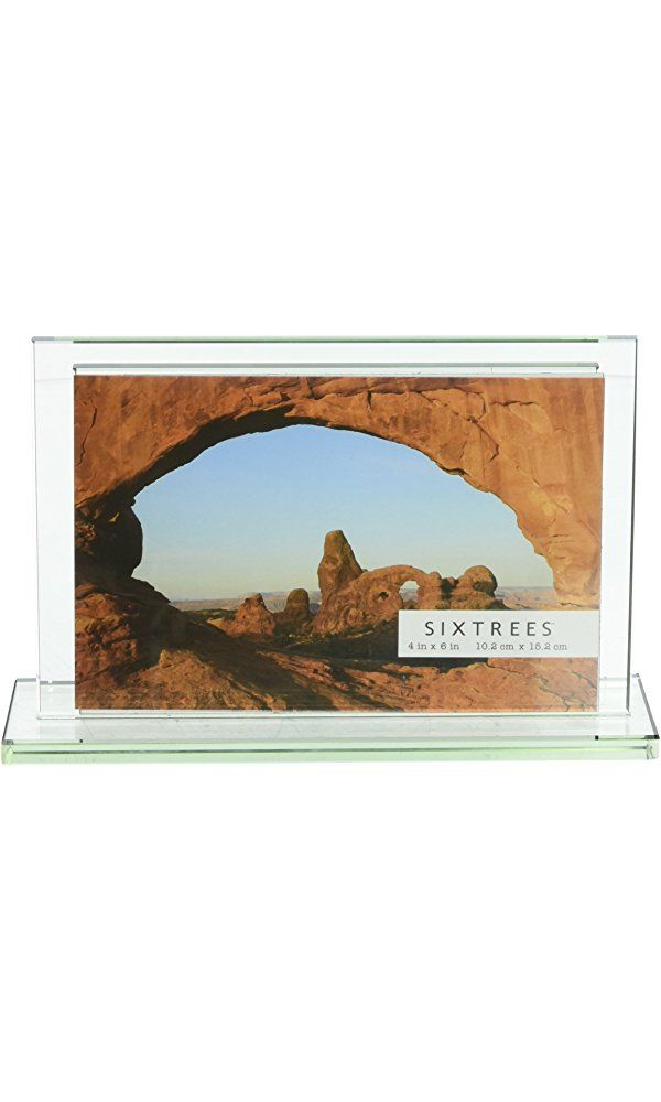 Sixtrees Deco Glass 4-Inch by 6-Inch Horizontal Photo Frame Best ...