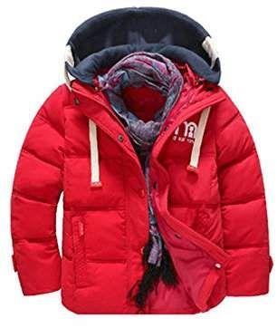 fd875dcba746 Phorecys Boy s Girl s Winter Hooded Coat Jacket Parka Outwear