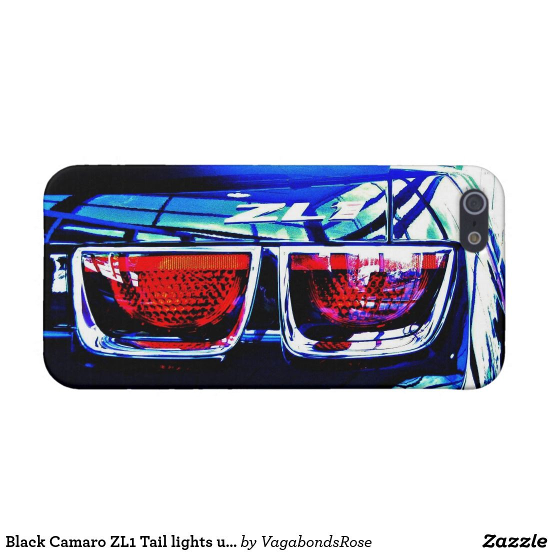 Black Camaro ZL1 Tail Lights Up Close IPhone Case