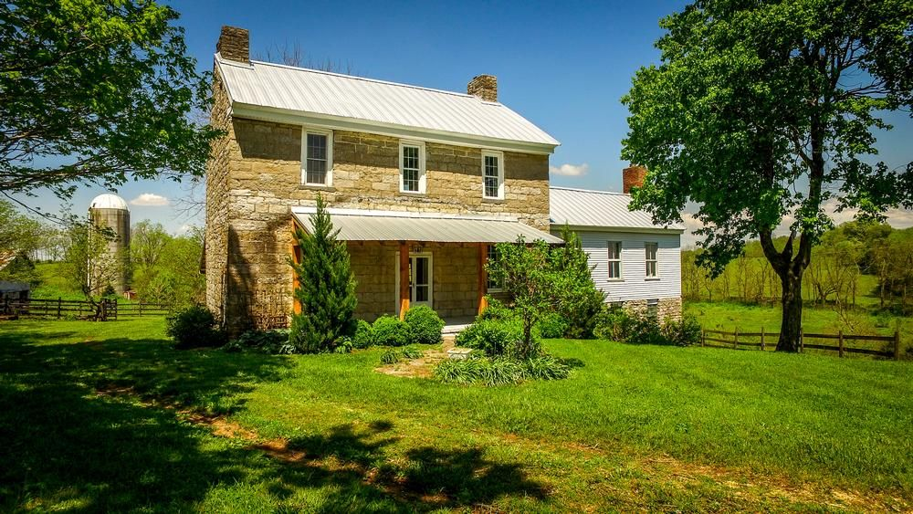 1801 Federal Stone Home For Sale In Perryville Kentucky Oldhouses Com Stone Houses Old Houses For Sale Old Houses