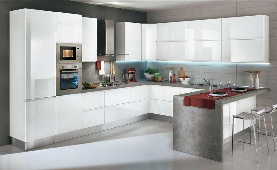 Bildergebnis für küchen theke hochglanz weiß bar5 Pinterest - Küchen Weiß Hochglanz