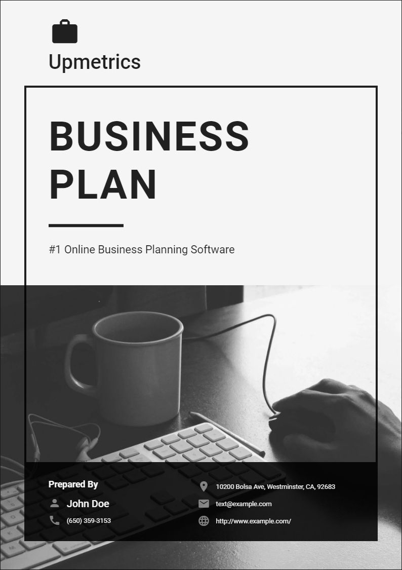 Business Plan Cover Page Design Business planning