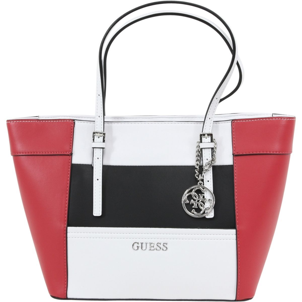 Guess Womens Delaney Red Multi Small Classic Tote Handbag
