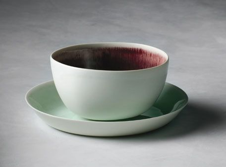 If a beauty heart radish were a bowl. linum by Nathalie Lahdenmaki