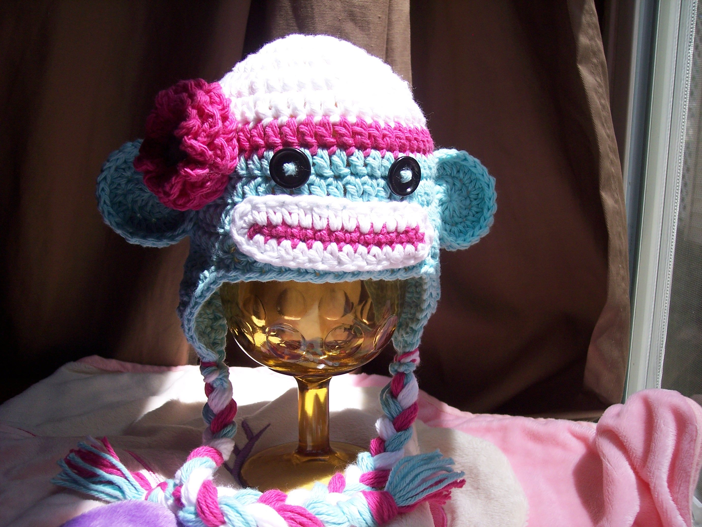 Free pattern its a girl monkey this site has loads of free find this pin and more on crochet projects ravelry month sock monkey hat pattern bankloansurffo Images