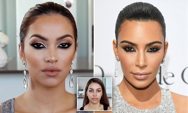 Beauty blogger Jah recreates Kim Kardashian's make-up from Cannes Film Festival | Daily Mail Online