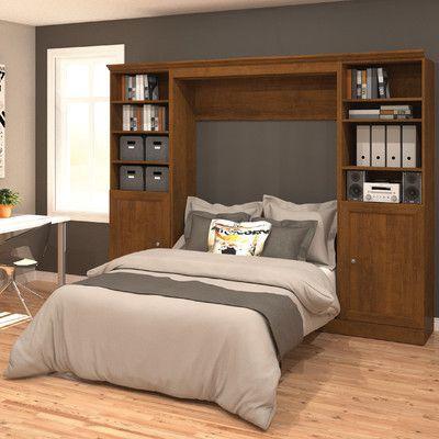 Best Bestar Versatile Full Double Murphy Bed Finish Chocolate 400 x 300