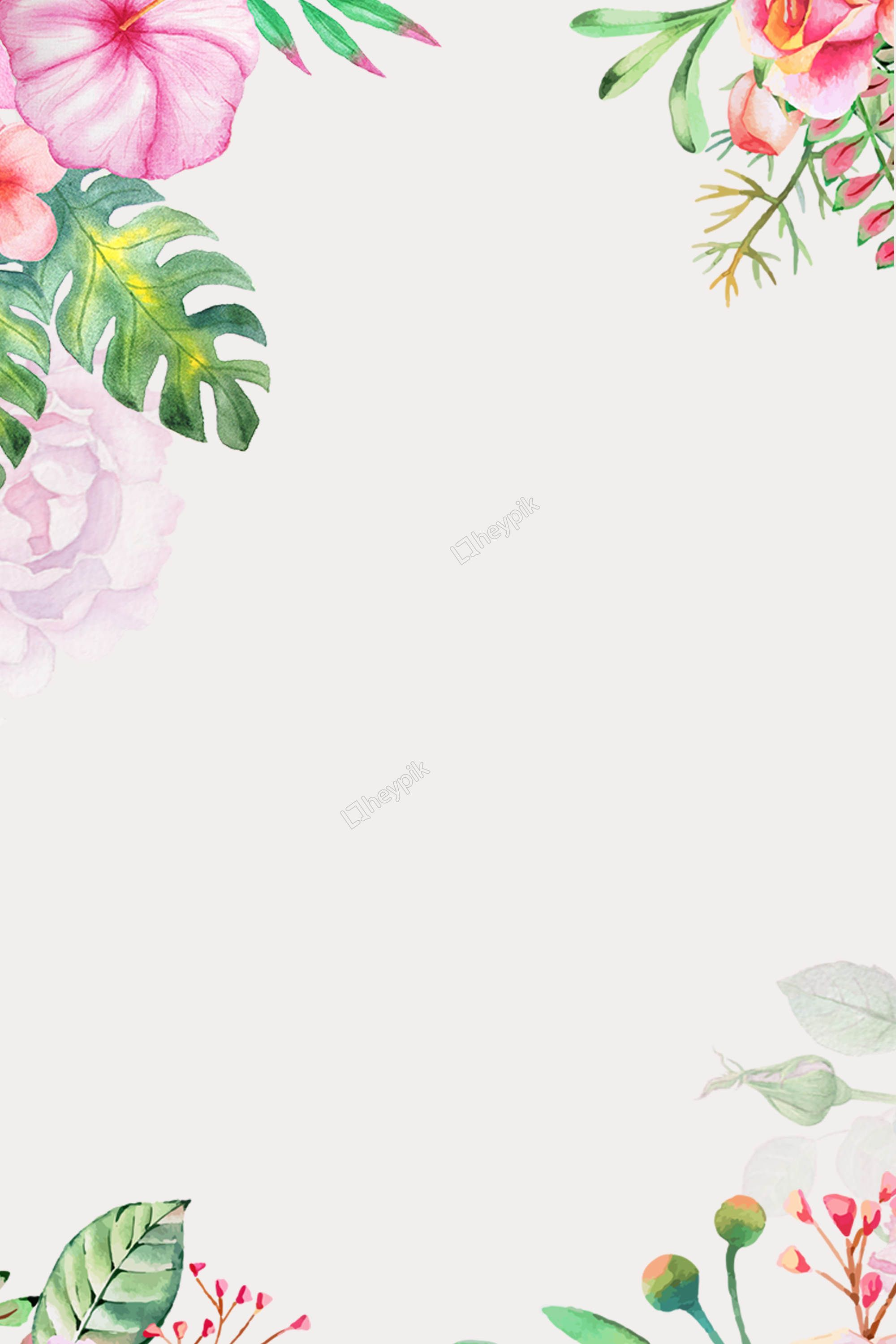 Fresh Watercolor Floral Psd Layered Advertising Background