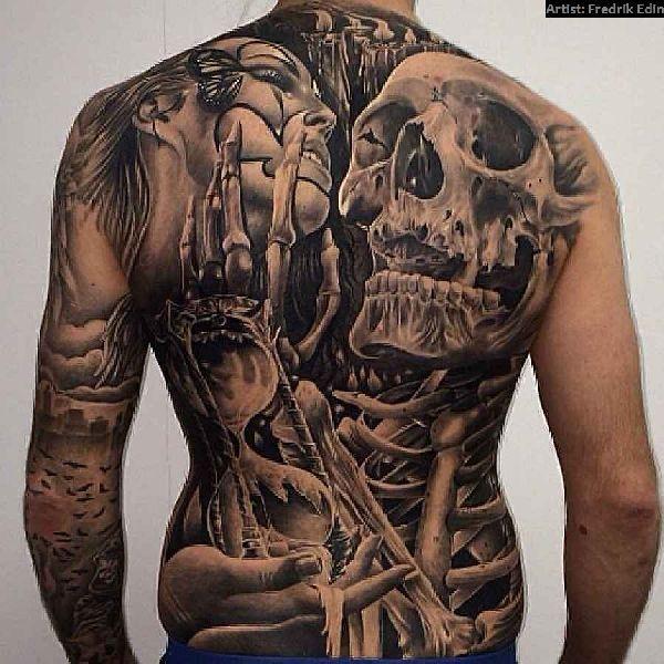 40 grandiose r ckentattoos amazing backpiece tattoos. Black Bedroom Furniture Sets. Home Design Ideas