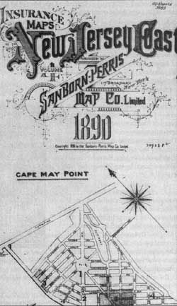 Map Of Cape May Point Sanborn Fire Insurance Map Co 1890