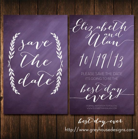 Best Wedding Invitations Ever: Best Day Ever #Printable #Wedding #Save-the-Date Card In