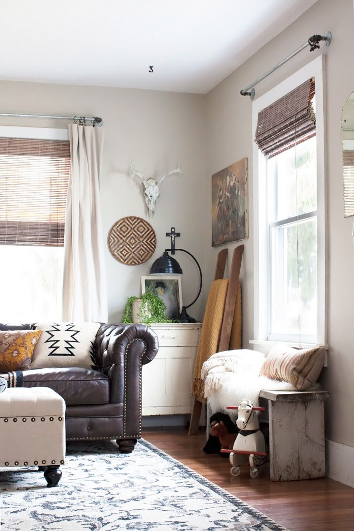 Eclectic Bohemian Living Room Styling  with Kid Friendly