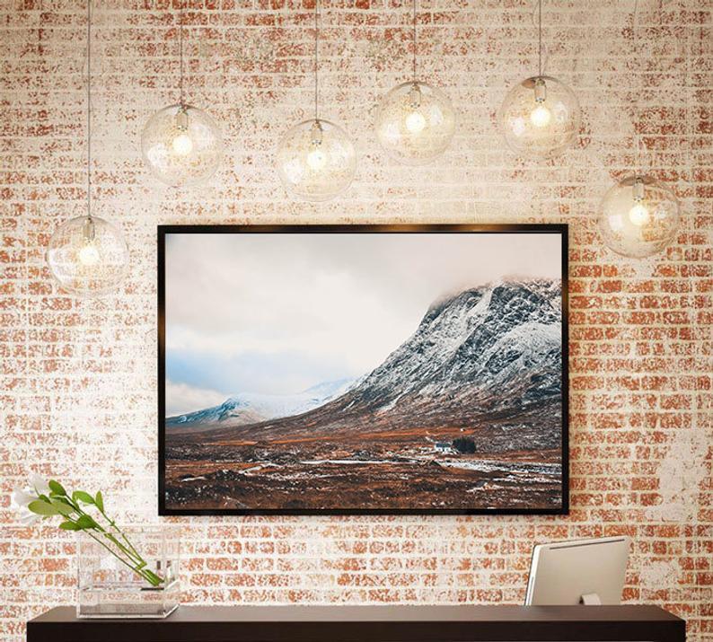 Scotland Wall Photo Art Glen Coe Beauty Travel Mountains