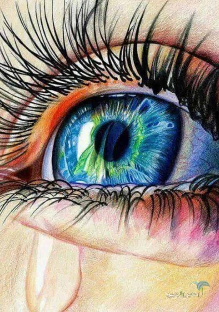 صور عيون حزينة تبكي دموع اروع 32 صورة عيون و دموع على الانترنت 2021 الطير الأبابيل Eye Drawing Drawings Art Drawings Beautiful