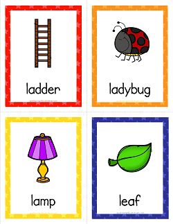Things that Start with L Cards   Alphabet Printables | craft
