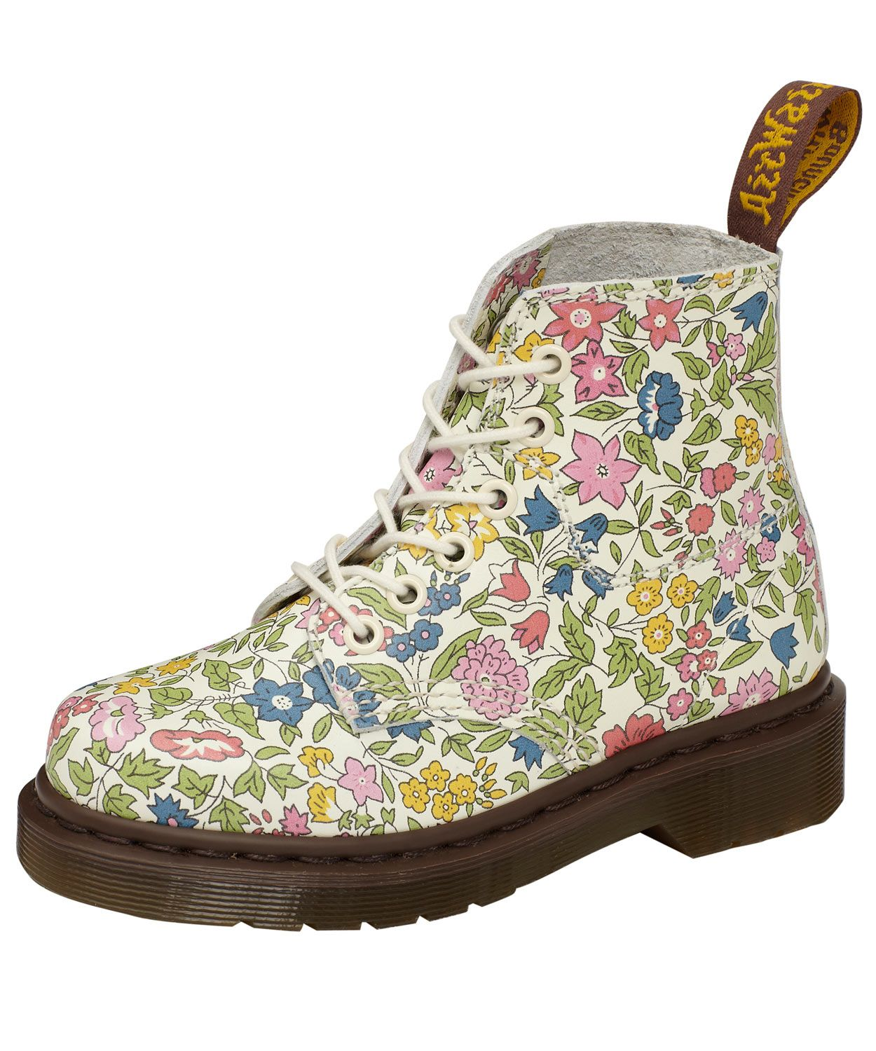 Child Girls Kids Ankle Boots Lace Up Floral Print Booties Flat Martin Shoes Size