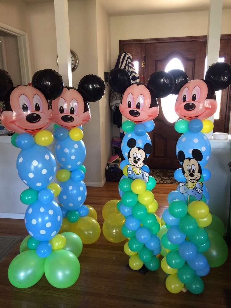 Baby Mickey Mouse Birthday Party Ideas Baby mickey mouse Baby