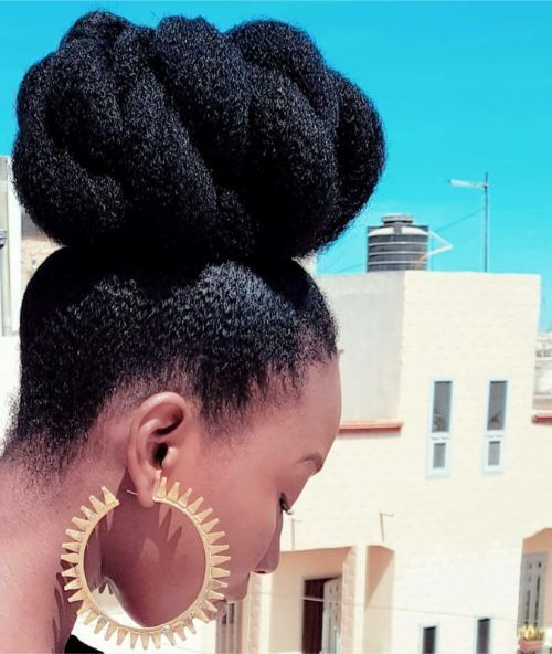 32 Shocking Natural Hair Growth Remedies For Black Hair - The Blessed Queens #naturalhairupdo