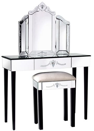 Dressing Table With Mirror And Stool: Dressing Table, Mirror And Stool (avec Images