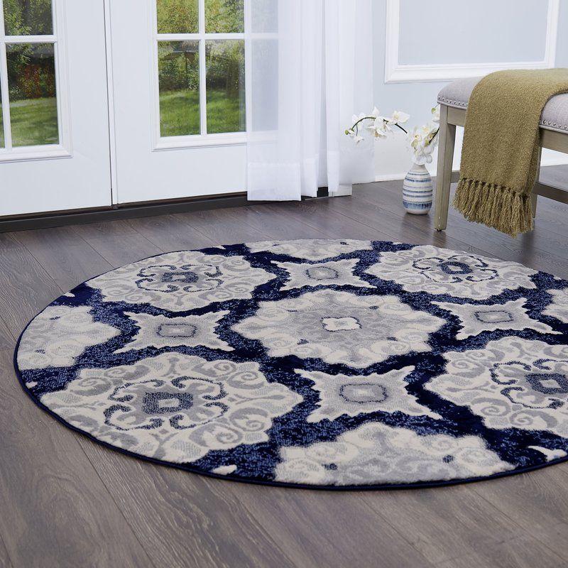 Caffey Floral Navy Blue Area Rug Midnight blue area rug